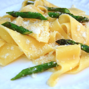 Pappardelle with Asparagus and a Fresh Lemon Cream Sauce